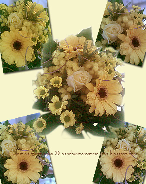 bouquet giallo rose margherite