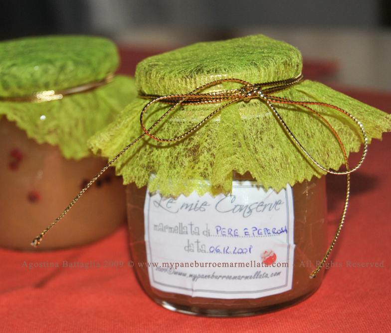 marmellata di pere e pepe rosa - idea regalo