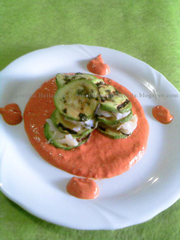 millefoglie zucchine e pesce 3