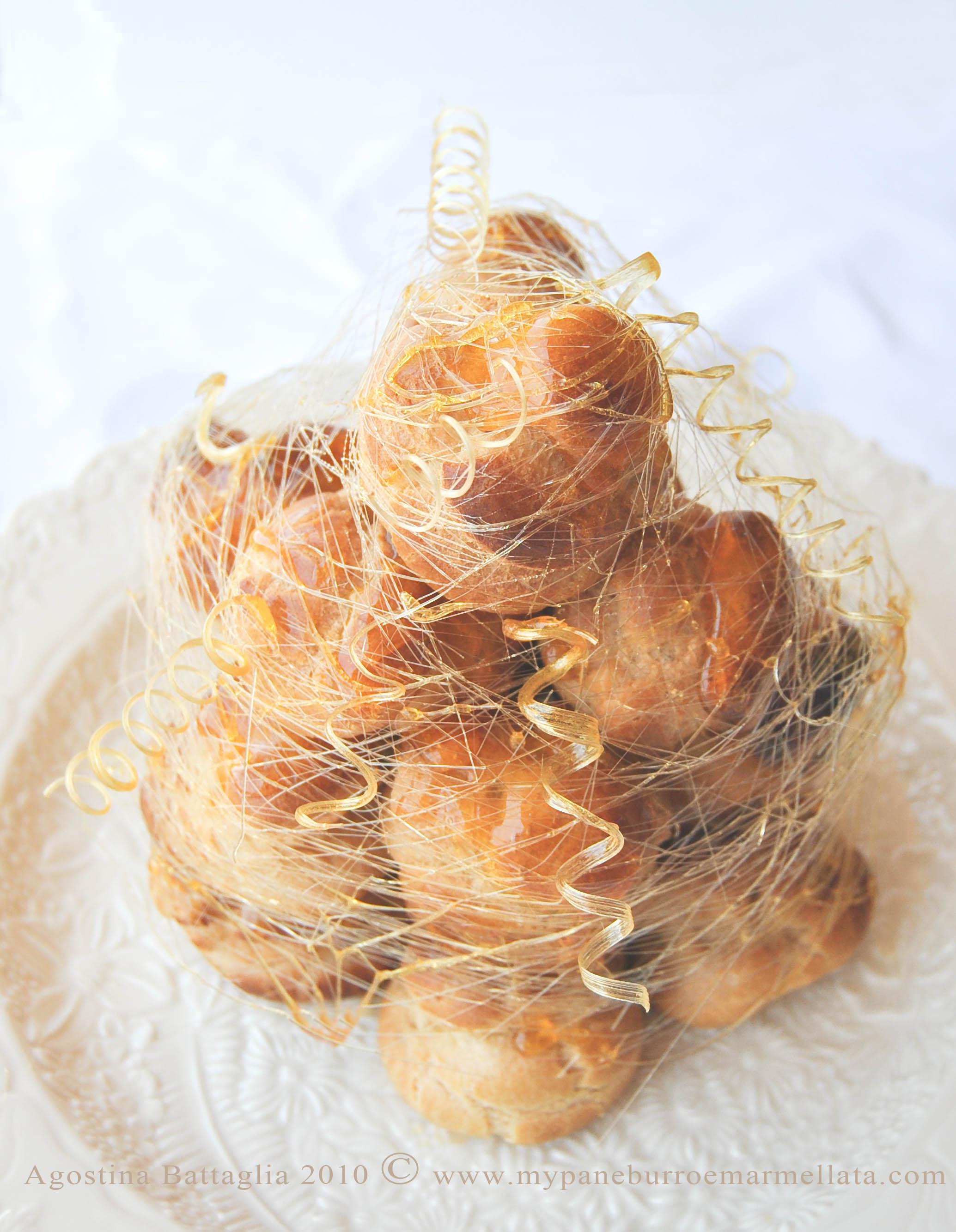 Croquembouche (Piece Montée) + Pâte à Choux + Caramel Corkscrew   a ... 9221efd6ce4