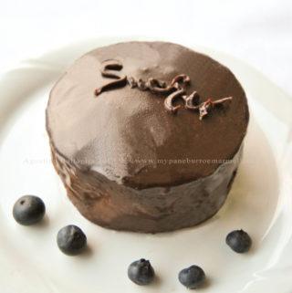 torta sacher ai mirtilli