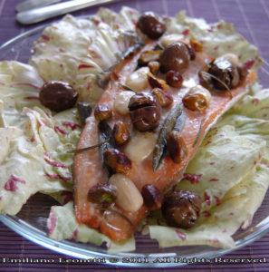 Oggi cucina lui per lei: la Trota Salmonata ed i Profumi del Bosco