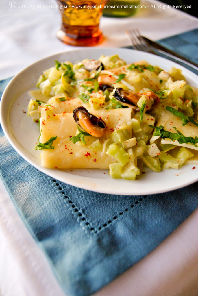 schiaffoni zucchine e cozze 1.1