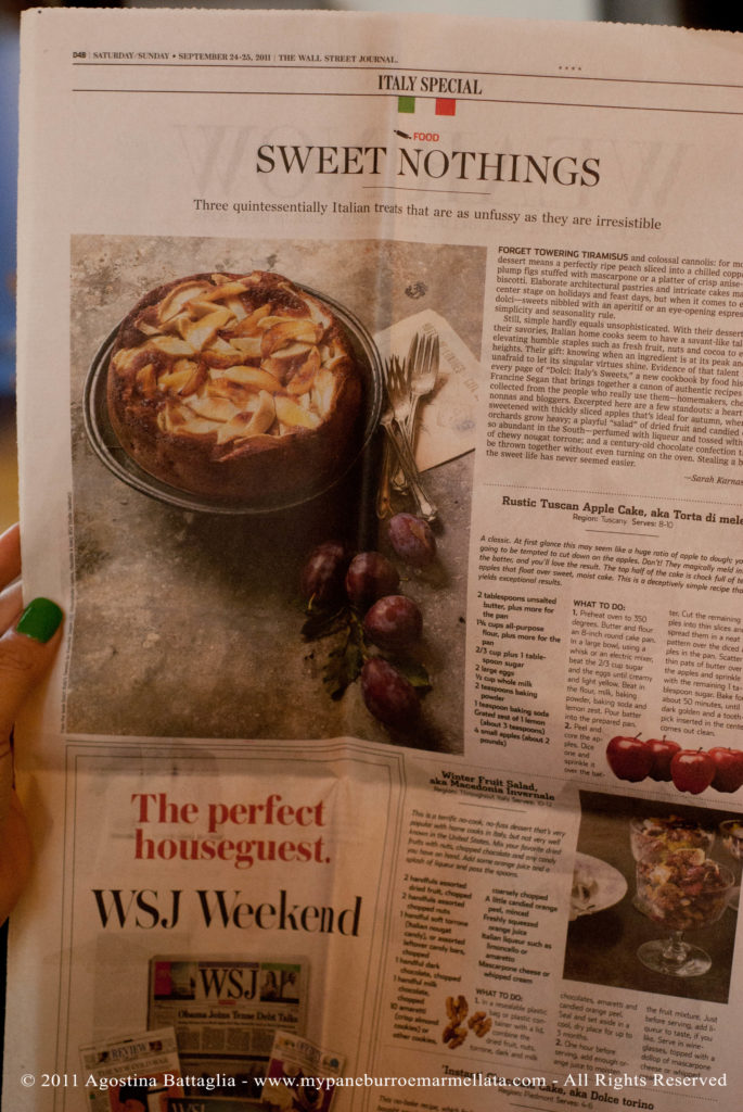 la torta di mele sul the wall street journal