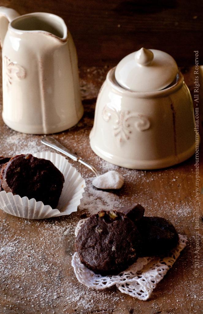 shortbread cioccolato ed arancia