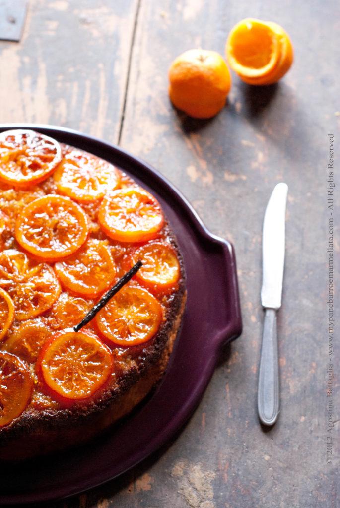 torta capovolta arance caramellate e vaniglia