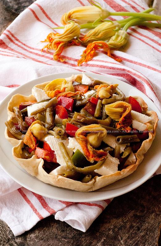 Verdure al vapore e stracchino in guscio di pasta matta for Marchi di pasta da non mangiare