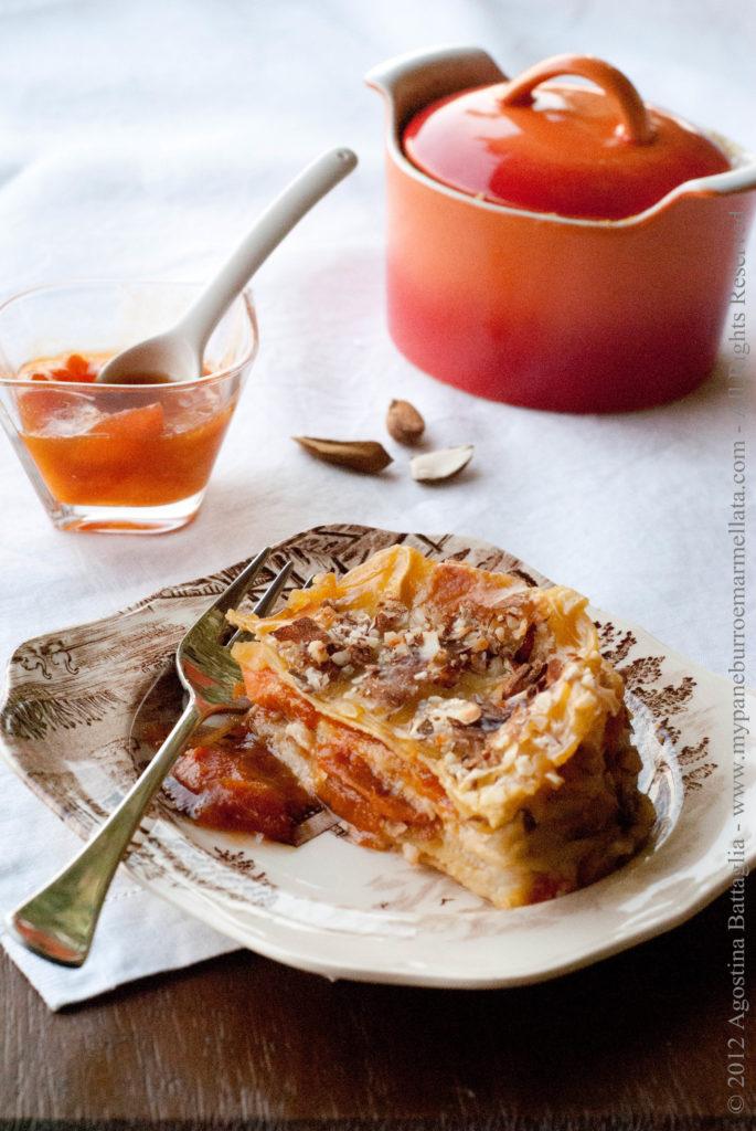 lasagne alle albicocche e mandorle pp