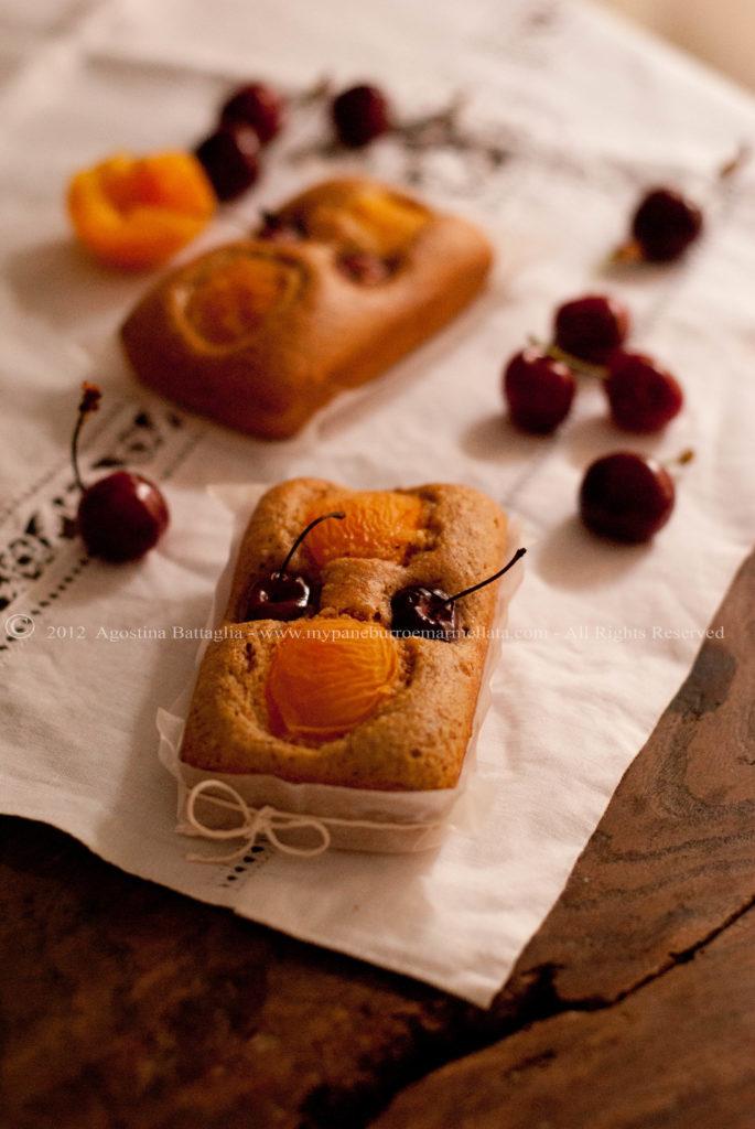 plumcake albicocche ciliegie