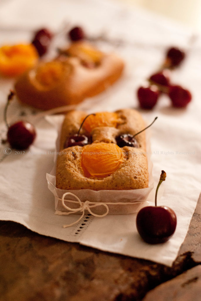 plumcake albicocche ciliegie1