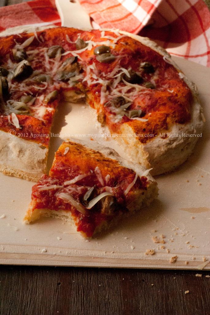 trancio pizza liquido di governo mozzarella