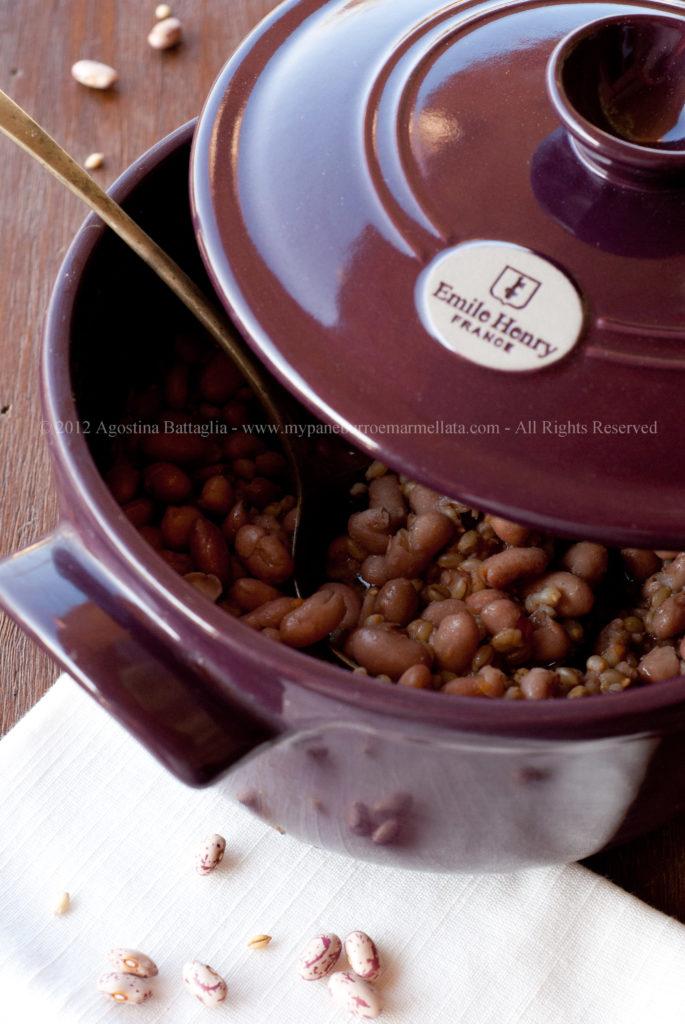 zuppa di fagioli e orzo cocotte