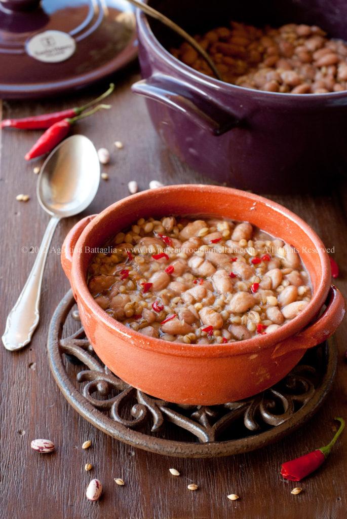 zuppa di fagioli ed orzo