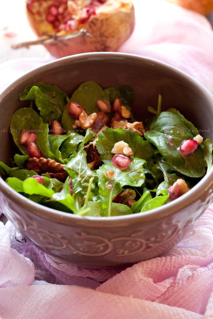 insalata rucola, melograno e noci pp