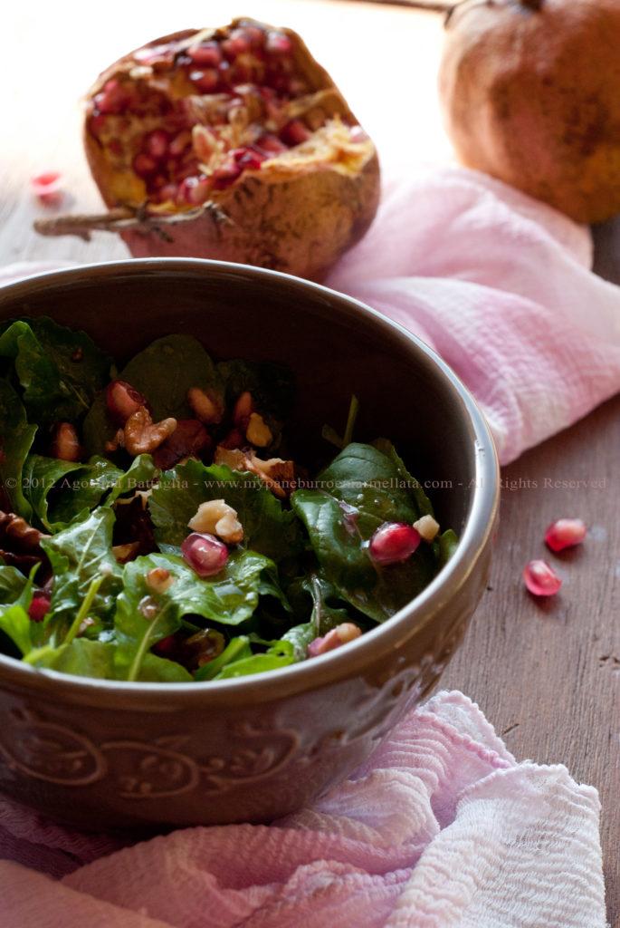 insalata rucola, melograno e noci pp1