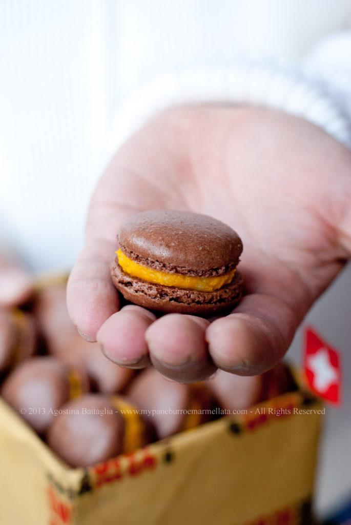 DSC_6540 macarons al cioccolato, zucca e sbrinz