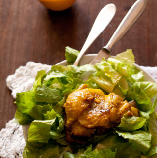 Pollo alla curcuma e arancia - www.mypaneburroemarmellata.com