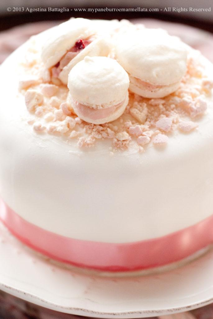 torta bianca e rosa part
