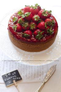 La New York Cheesecake con fragole e vaniglia