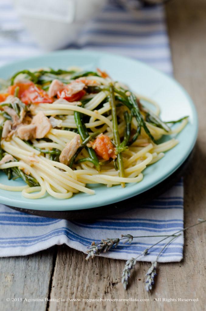 DSC_0294 spaghetti asparagi di mare e salmone copy