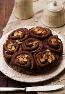 Torta di rose al cioccolato e marroni – senza lattosio