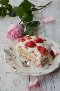 Tiramisù alle fragole senza lattosio (con crema pasticcera)|Festa della Mamma