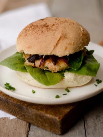 burger di salmone senza lattosio